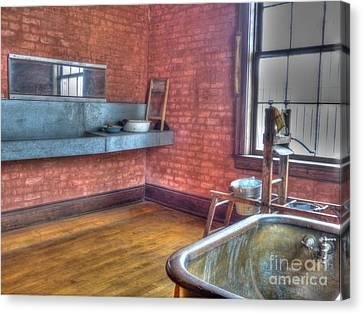 Prisoner's Bath And Laundry Canvas Print by MJ Olsen