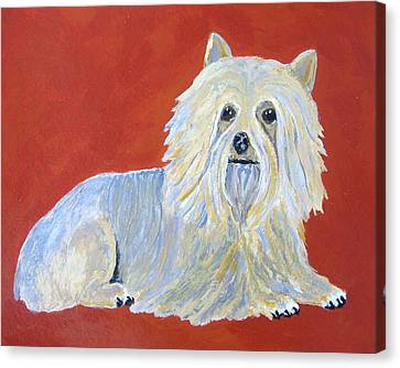 Canvas Print featuring the painting Prissy by Suzanne Theis