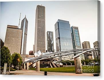 Pritzker Pavilion Chicago Skyline Photo Canvas Print