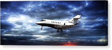 Airplanes Canvas Print featuring the photograph Private Business by Aaron Berg