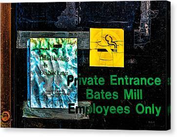 Private Entrance Canvas Print by Bob Orsillo