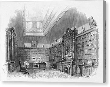 Private Library, C1850 Canvas Print
