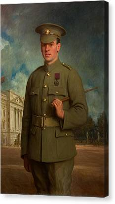 Private Thomas Whitham, Vc, 1918 Canvas Print