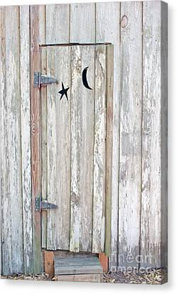 Privy Door Canvas Print