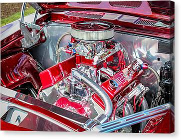 Canvas Print featuring the photograph Pro Street Hot Rod Engine  by Trace Kittrell