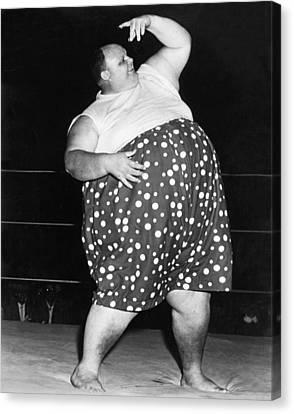 Pro Wrestler Happy Humphrey Canvas Print by Underwood Archives