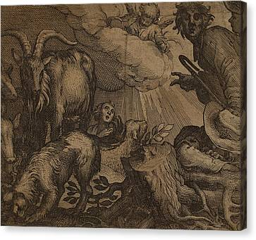 Probably Netherlandish 17th Century, Annunciation Canvas Print by Quint Lox