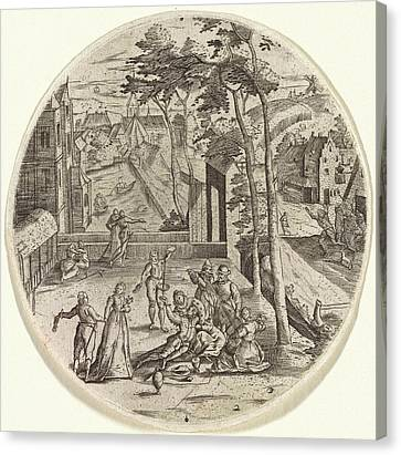 Prodigal Son Squanders His Money, Anonymous Canvas Print by Anonymous