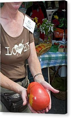 Locally Grown Canvas Print - Produce At A Farmers Market by Jim West