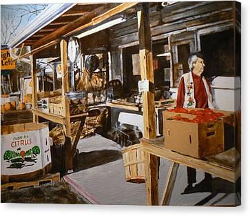 Produce Market Canvas Print by Thomas Akers
