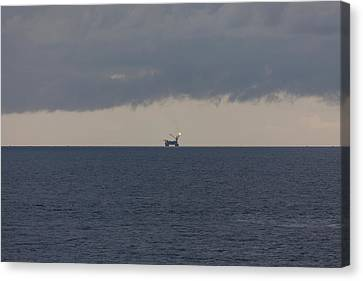 Production Platform Offshore Equatorial Guinea Canvas Print