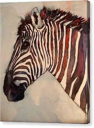 Profile In Stripes Canvas Print by Karen McDonald