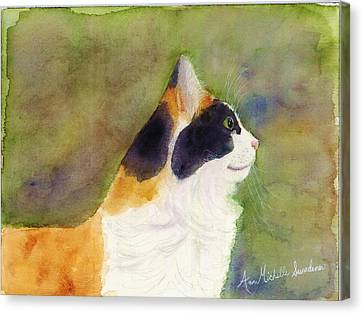 Profile Of A Cat Canvas Print