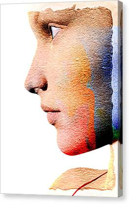Profile Of A Woman Canvas Print by David Ridley