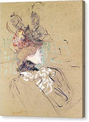Henri De Toulouse-lautrec Canvas Print - Profile Of A Woman by Henri de Toulouse-Lautrec