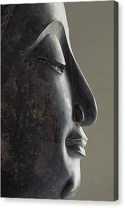 Profile Of The Face Of Buddha, 17-18th Canvas Print by Everett