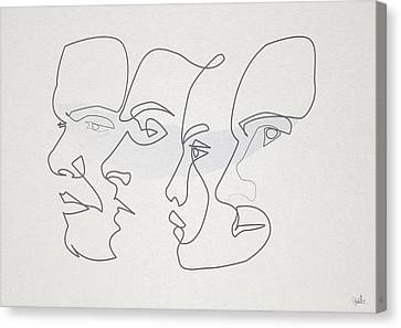 Profiles Canvas Print by Quibe