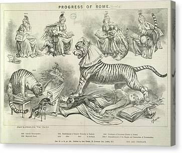 Progress Of Rome Canvas Print