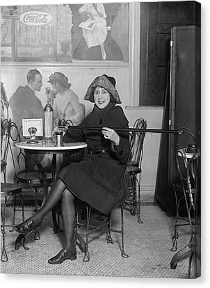 New York Cops Canvas Print - Prohibition Furtive Drink 1922 by Daniel Hagerman