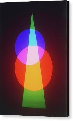 Projection Of Three Primary Colours Canvas Print