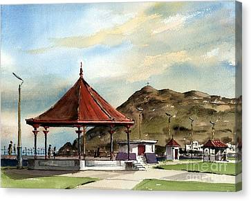 Prom Bandstand Bray Wicklow Canvas Print by Val Byrne