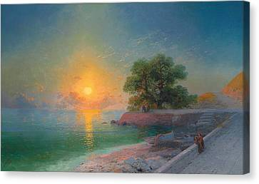 Promenade At Sunset Canvas Print