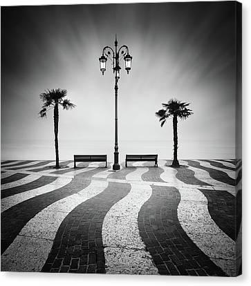 Benches Canvas Print - Promenade... by Daniel ?e?icha