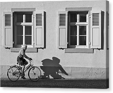 Promenade Of A Shadow Canvas Print by Jean-Pierre Ducondi