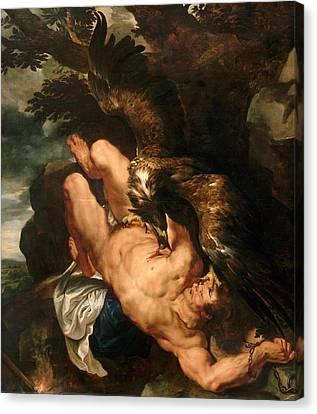 Prometheus Bound Canvas Print by Peter Paul Rubens