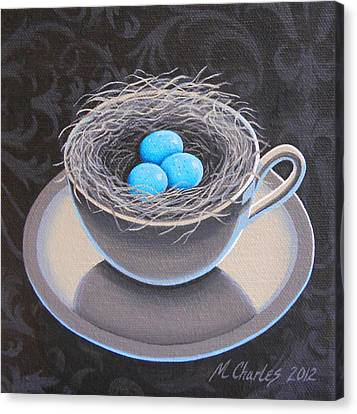 Egg-cup Canvas Print - Promise Of Spring by Mary Charles