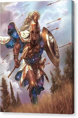 Promo Soldier Token Canvas Print by Ryan Barger