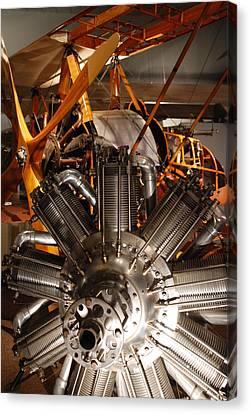 Prop Plane Engine Illuminated Canvas Print