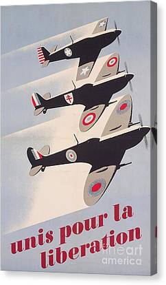 Propaganda Poster For Liberation From World War II Canvas Print