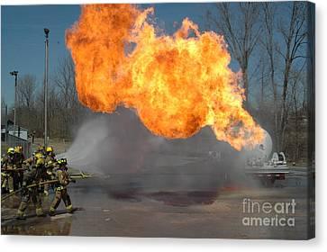 Propane Burn Canvas Print by Steven Townsend
