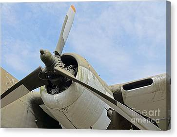 Propeller Of An Old Aircraft Canvas Print by Yali Shi