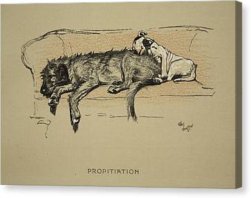 Propitation, 1930, 1st Edition Canvas Print by Cecil Charles Windsor Aldin