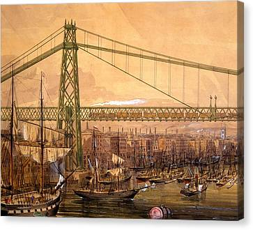 Proposed Railway Bridge Canvas Print by English School