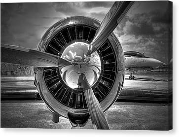 Vintage Air Planes Canvas Print - Props And Jet by Rudy Umans