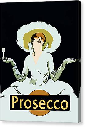 Prosecco Canvas Print by Fig Street Studio
