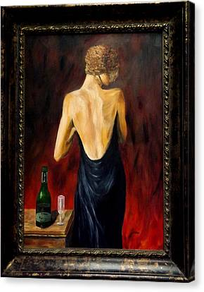 Prosecco Nights Framed Canvas Print by Gino Didio