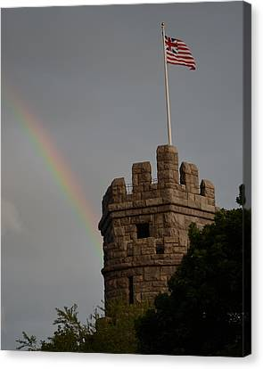 Oxford. Oxford Ma. Massachusetts Canvas Print - Prospect Hill Somerville Ma Rainbow by Toby McGuire