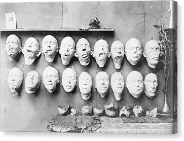 Prosthetic Masks Casts Canvas Print by Library Of Congress