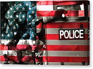 Protect And Serve Canvas Print by Dan Sproul