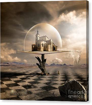Factory Canvas Print - Protected by Franziskus Pfleghart