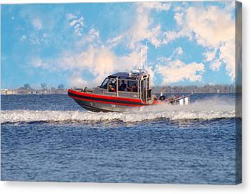 Protecting Our Waters - Coast Guard Canvas Print