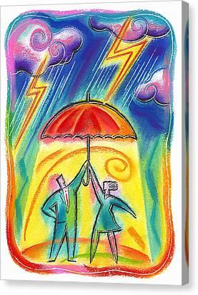 Protection Canvas Print by Leon Zernitsky