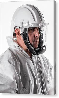 Overalls Canvas Print - Protective Safety Clothing by Crown Copyright/health & Safety Laboratory Science Photo Library