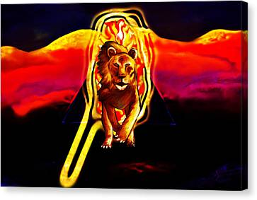 Protector Of The Eye Canvas Print by Persephone Artworks