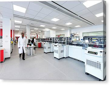 Protein Research Laboratory Canvas Print by Dan Dunkley