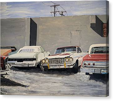 Proto Low Riders Canvas Print by Patricio Lazen